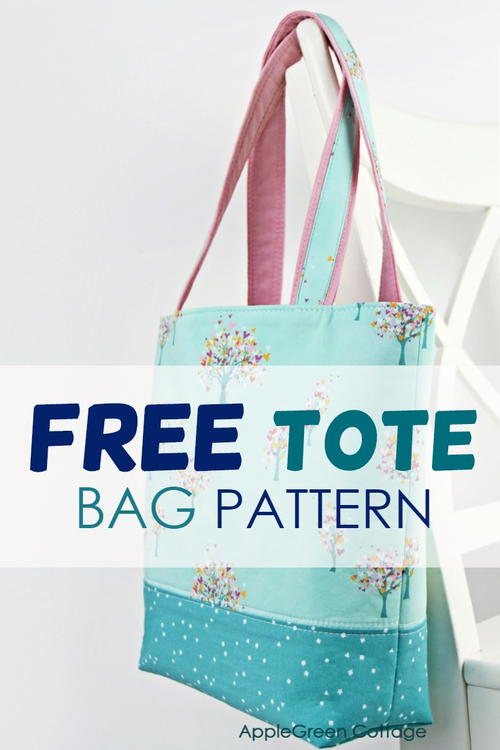 The Best Free Tote Pattern - In 2 Sizes