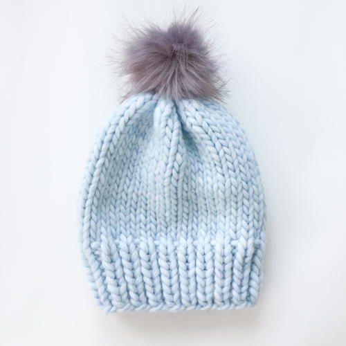 Simple Chunky Knit Wool Hat