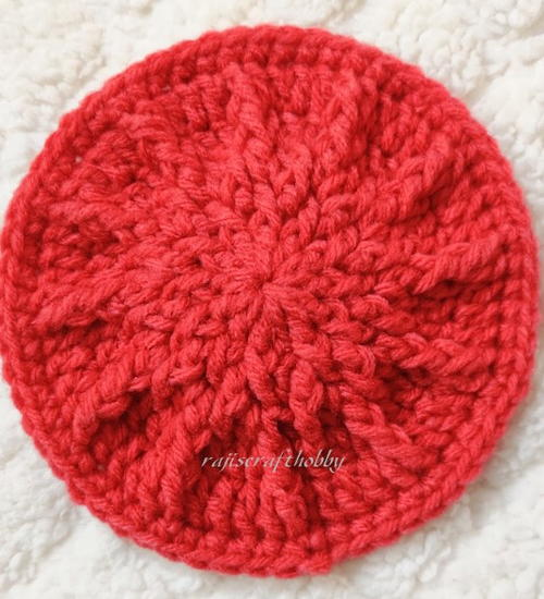 Textured Crochet Spike Coaster