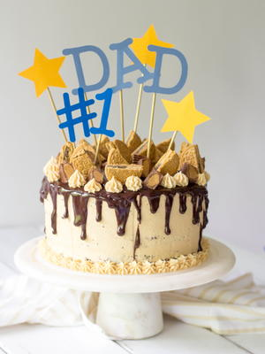 Magnificent 1 Dad Chocolate Fathers Day Cake Recipelion Com Funny Birthday Cards Online Fluifree Goldxyz