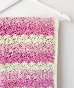 Lacy Shells Baby Blanket