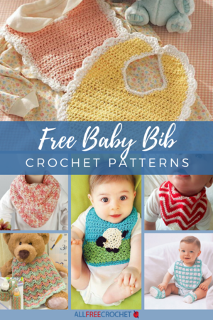 Baby Bib Baby Bib with Bobble Stitch Boat Crochet Pattern Boat Bib Bobble Bib