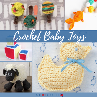 18 Crochet Baby Toys Free Patterns
