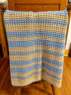 Crochet Rustic Country Blanket