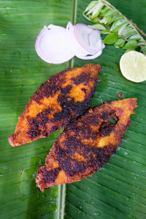 Fish Fry With Shallots And Coconut