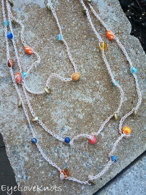 Just Peachy Layered Chain Necklace