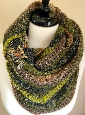 Woodland Faeries Triangle Shawl