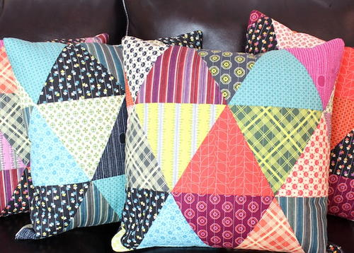 Patchwork Triangle Pillows