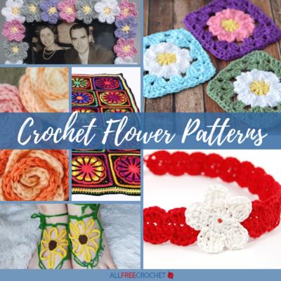 sewing accessories 3D rose small flower decoration Crochet Flower Applique blue flower