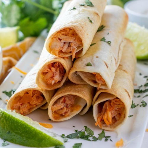 Baked Chicken Flautas (rolled Tacos)