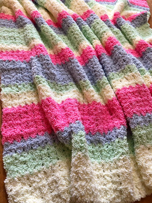 Crochet Cotton Candy Fluffy Blanket
