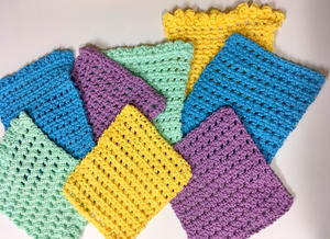 Simple Cute And Quick Crochet Washcloth Pattern