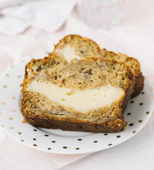 Decadent Cream Cheese Banana Bread