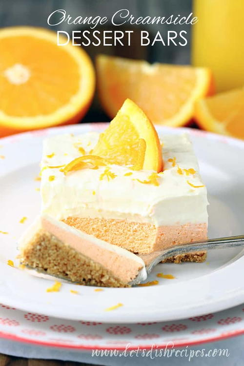 Orange Creamsicle Refrigerator Bars