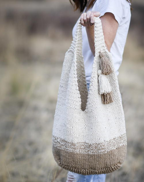 Slouchy Knit Tote Bag