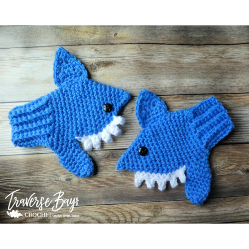Cute Shark Mittens