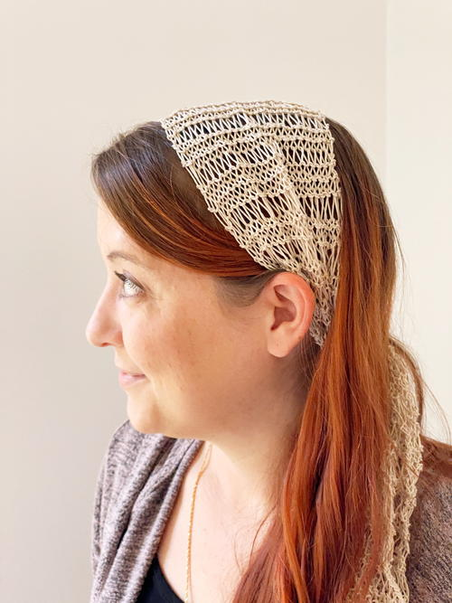 Lace Head Scarf Knitting Pattern