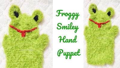 Froggy Smiley Crochet Hand Puppet