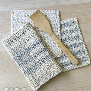 Textured Crochet Kitchen Towel