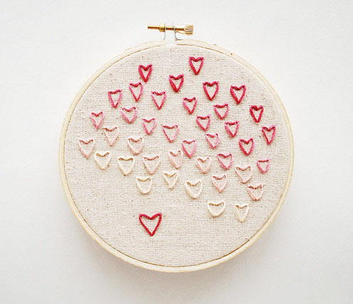 Simple Heart Stitch Embroidery Project