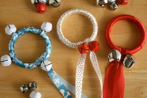 Christmas Bells Ribbon Rings