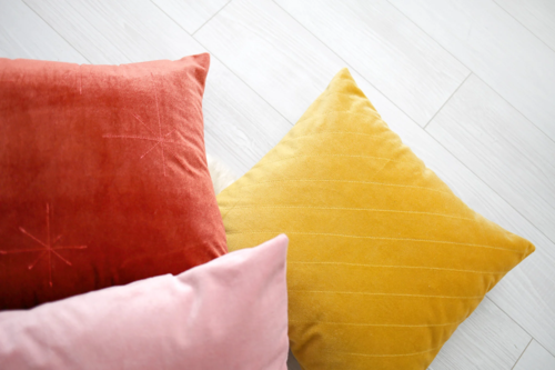 DIY Cozy Quilted Velvet Pillows