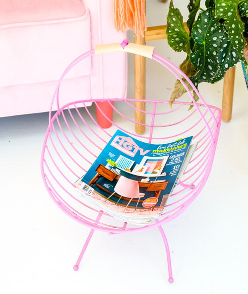 Whimsical Magazine Rack Makeover