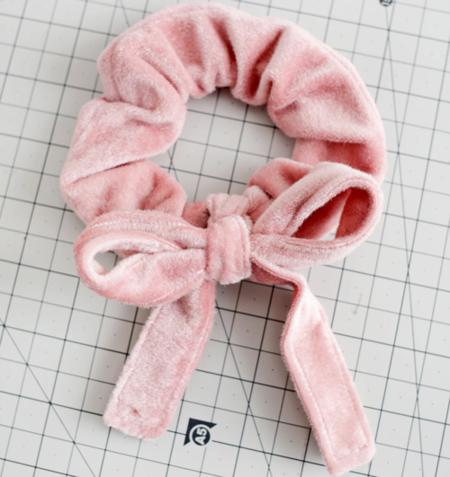Velvet Bow Scrunchie DIY