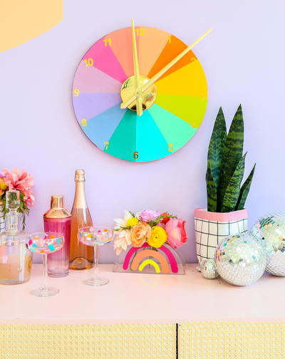 DIY Rainbow Clock
