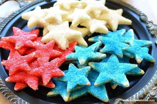 Sparkly Firecracker Pie Crust Stars