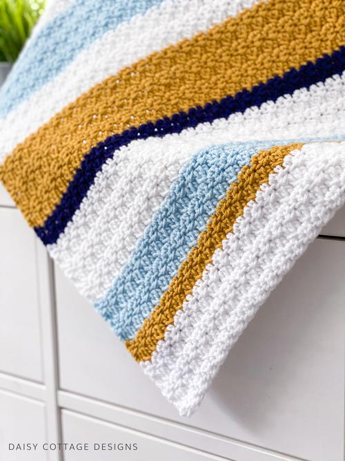 Sand And Sea Crochet Baby Blanket
