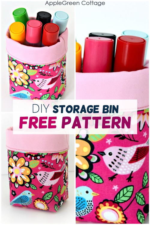 Make The Cutest Mini Fabric Bin!