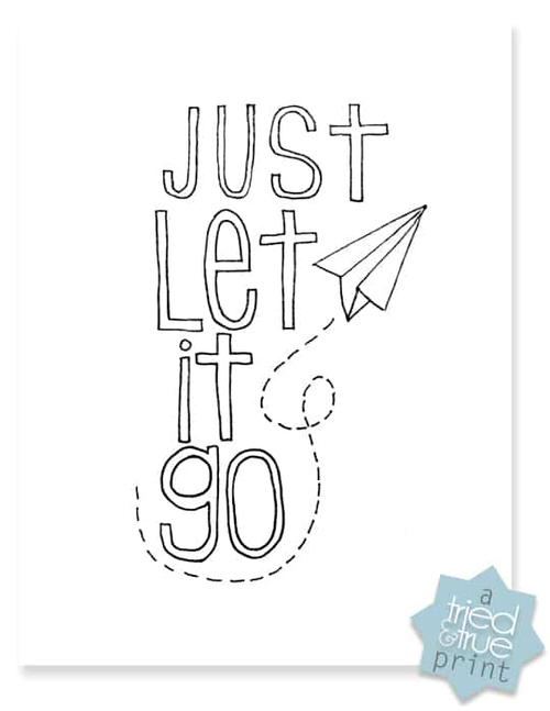 Printable Let it Go Coloring Page