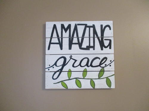 Painted Amazing Grace Sign