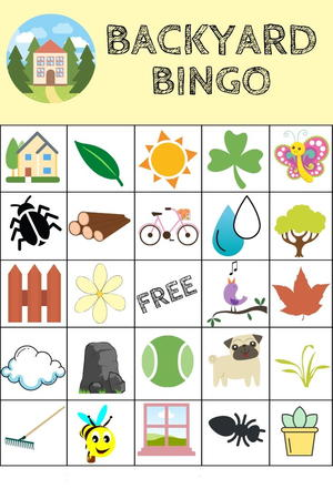 Free Printable Backyard Bingo Game