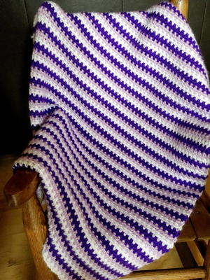 How To Crochet A Moss Stitch Baby Blanket