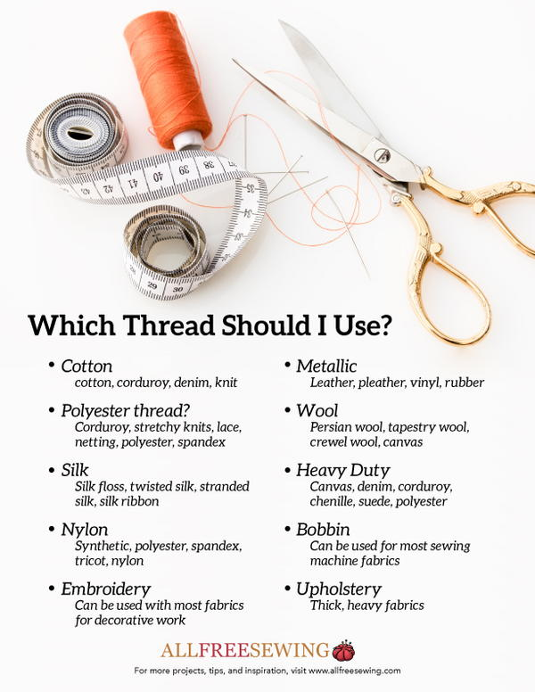 Types of Thread to Use (Free Printable)