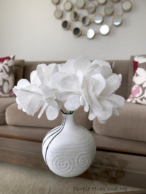Toilet Paper Flower Blooms DIY