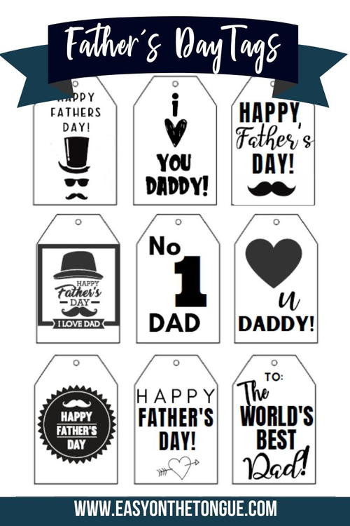 Grab The Gorgeous Free Father's Day Gift Tags