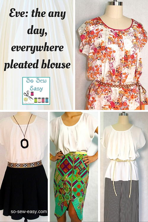 Easy Pleated Blouse Free Sewing Pattern