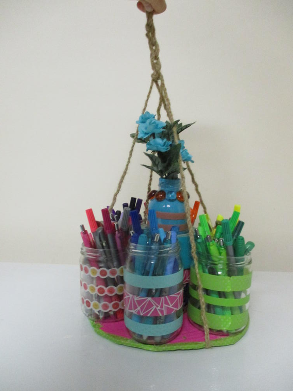 Easy, Colorful Pen/Craft Organizer