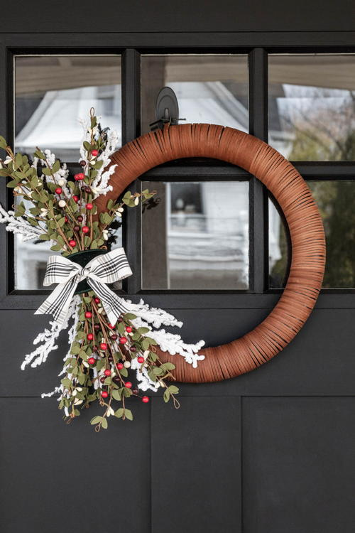 Homemade Modern Christmas Wreath