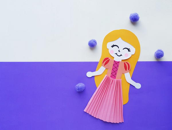 Princess Rapunzel Paper Doll Craft
