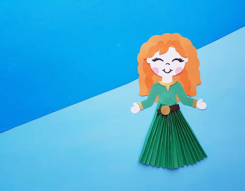 Princess Merida From Brave Paper Doll Craft