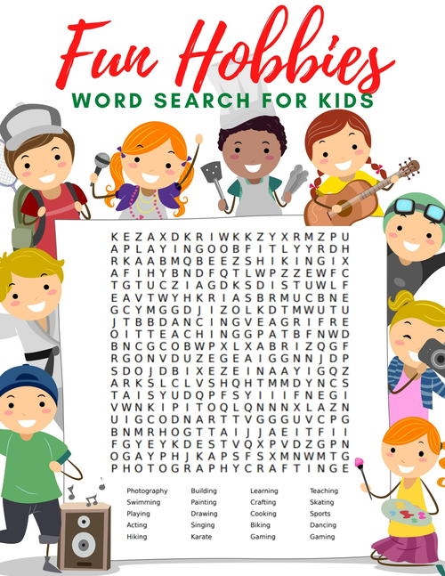 Free Hobbies Word Search And Word Scramble For Kids