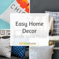 Easy Home Decor: 15+ DIY Throw Pillows
