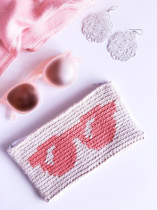 Tapestry Crochet Sunglasses Case