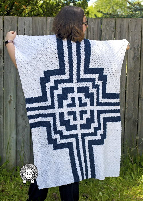 It's All Greek To Me C2c Blanket