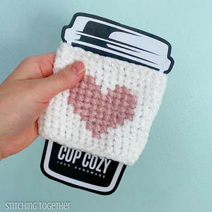 Here's My Heart Crochet Coffee Sleeve