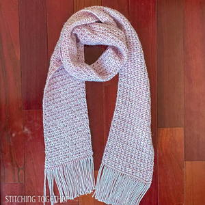 The Courtney Crochet Scarf With Fringe